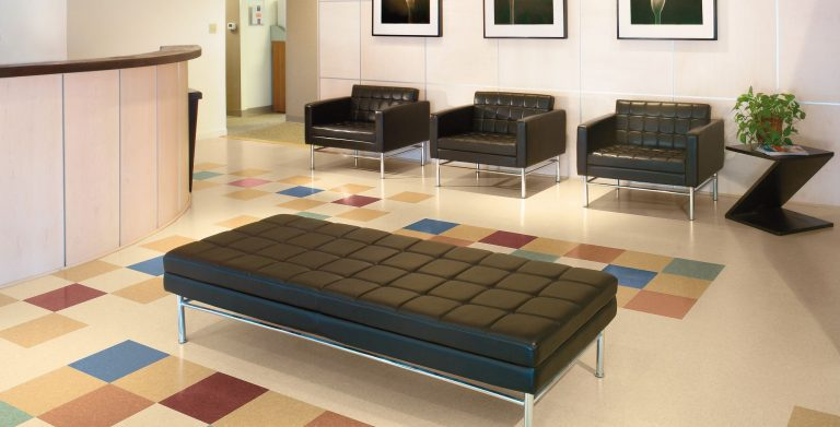 Made with rapidly renewable resources, this modular floor provides enhanced performance over composition tile.