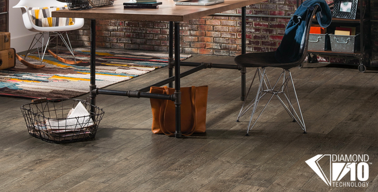 Vivero Better Luxury flooring offers 2.0mm plank visuals inspired by a variety of on-trend hardwoods. Featuring Diamond 10 Technology, Vivero Better Luxury flooring will look beautiful longer with the highest scratch, stain, and scuff resistance in the industry.