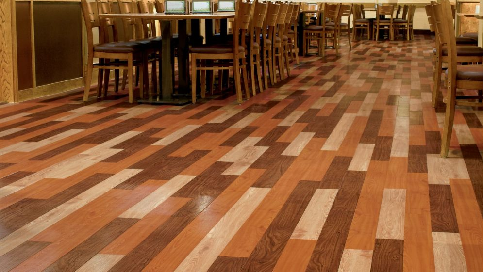 Multi color wood floor gurus floor for Commercial hardwood flooring