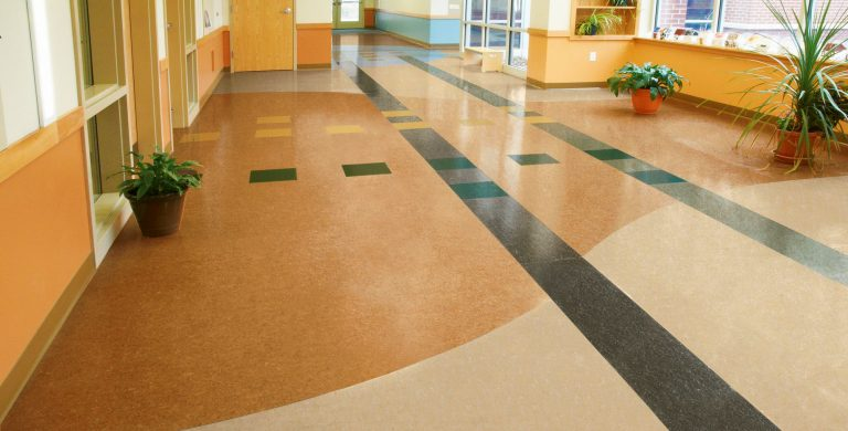 This sheet linoleum collection adds a blend of dynamic colors and highlights that flow together to create a natural visual. Provides durable resistance to soiling and staining.