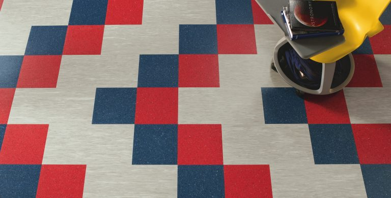 Example of expert Vinyl Composition Tile installation in an educational environment