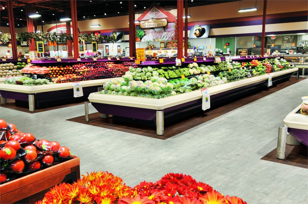 Supermarket with natural creations earthcuts NA225 and NA330 flooring