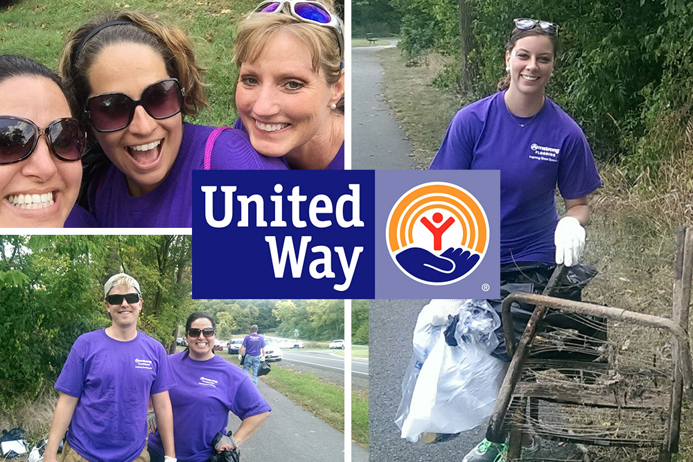 Armstrong Flooring employees volunteering for the United Way