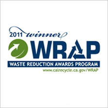 2011 Waste Reduction Award badge - California Department of Resources