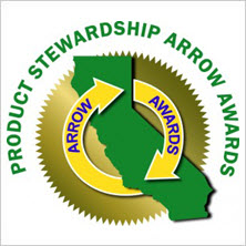 2013 The Infinity Arrow Award badge - California Product Stewardship Council for recycling