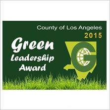 2015 County of Los Angeles Green Leadership Award for South Gate plant