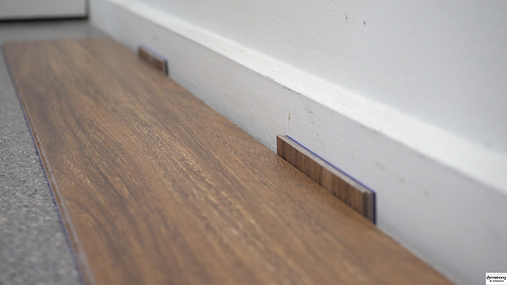 Close up of installed plank