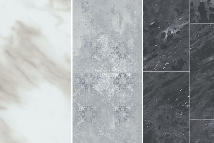 engineered stone has slate, marble, and travertine styles available