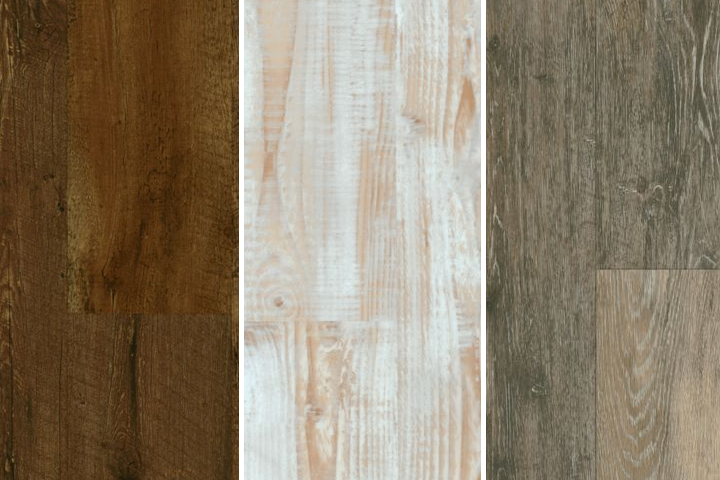 various wood look styles with rigid core