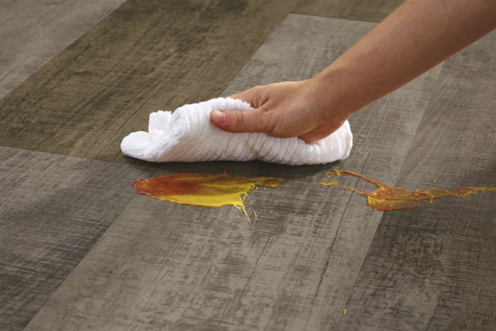 stain resistant luxury vinyl to keep your floor looking spotless