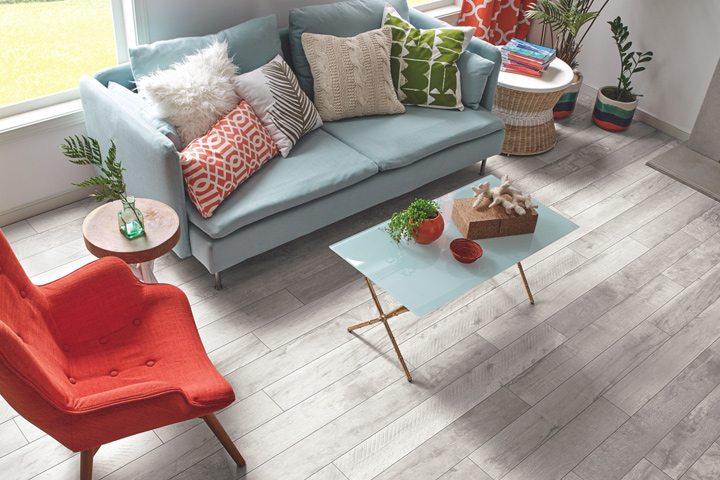 Forest Treasure from the PRYZM Rigid Flooring collection in the living room