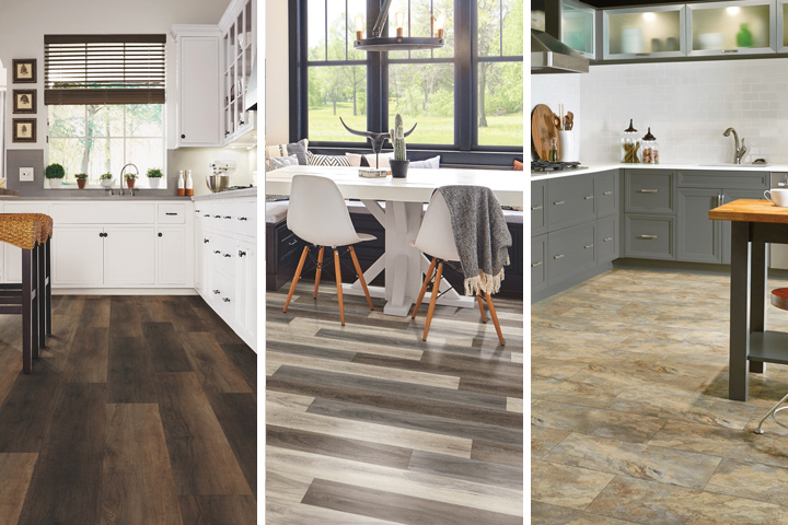 Rigid Core flooring with hardwood, texture and effects and classic stone styles