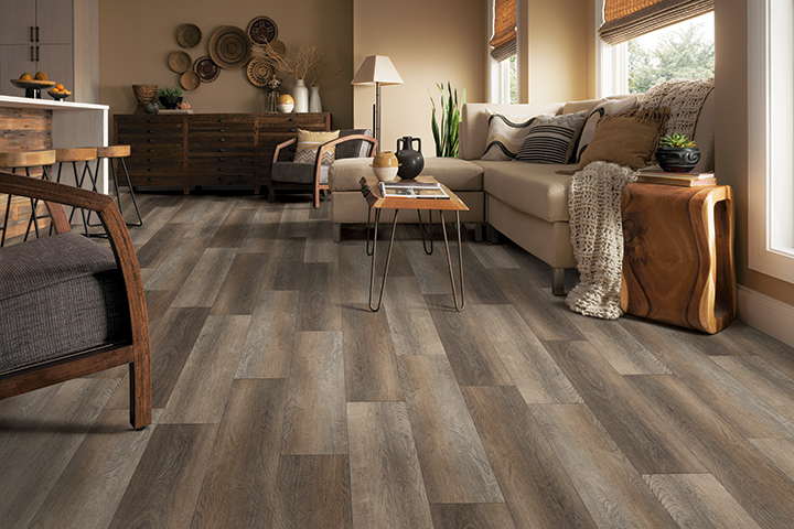 Wood look Rigid Core flooring for the living room