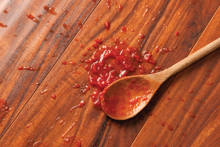 laminate floors can stand up to kitchen spills and stains