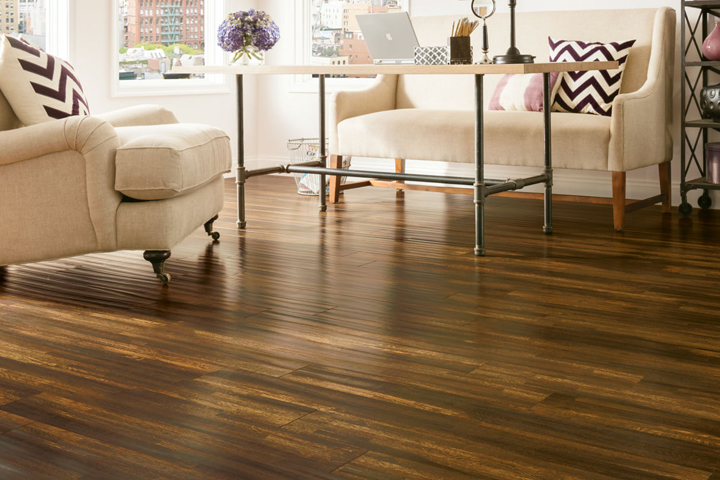 Hand Sed Laminate In The Living Room L6623 Burnt Ombre