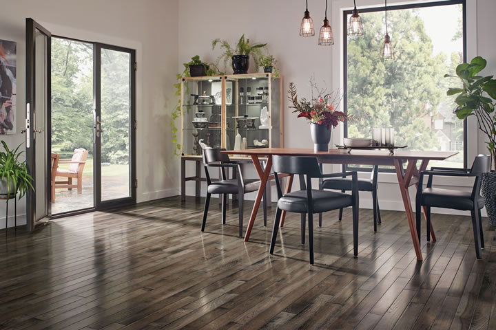 Textured Wood Look Vinyl Flooring For The Dining Room