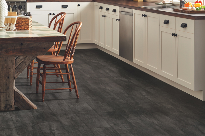 Dark vinyl kitchen flooring home design plan Friendly floors