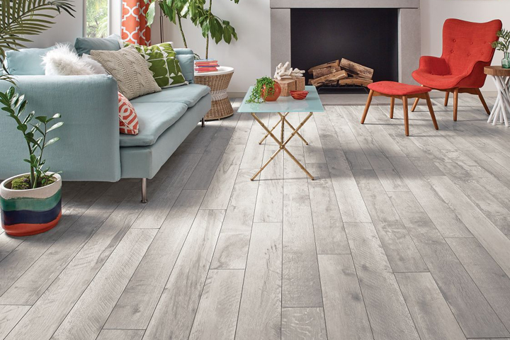 Rigid Core Flooring - Vantage Collection A6930, A6931, A6932 in a kitchen dining room