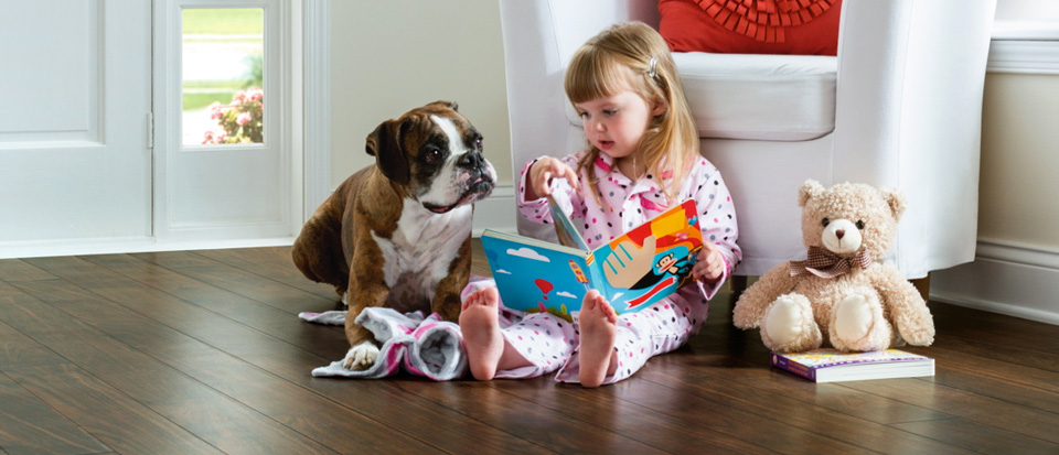 hardwood that stands up to pets and children