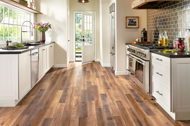 Wood Look Laminate In The Kitchen L6625 Global Reclaim Worldy Hue