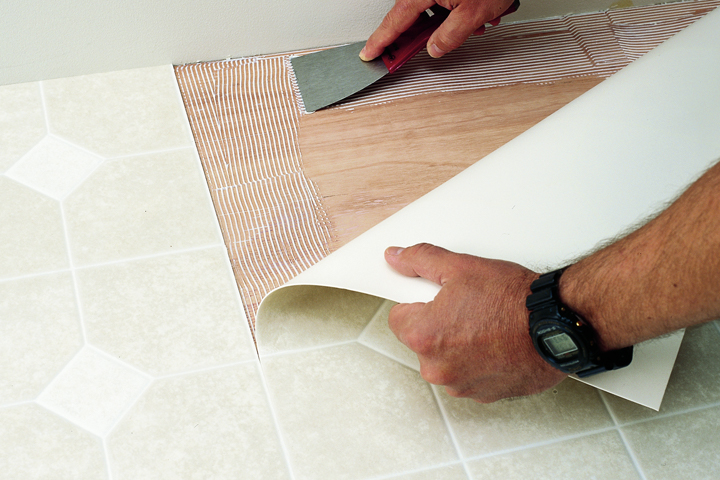 Vinyl Sheet Floor Installation - What do you put under vinyl flooring
