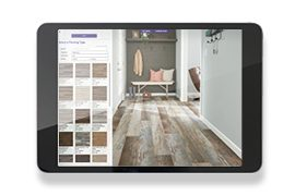visualize our floors in your space with Design a Room