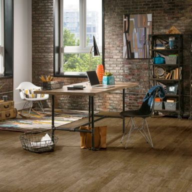 luxury vinyl flooring to bring the home office to life