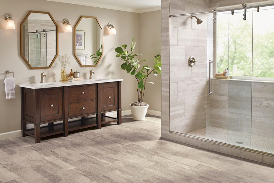 Bathroom Flooring In Vinyl Sheet B6325 Duality Premium Collection