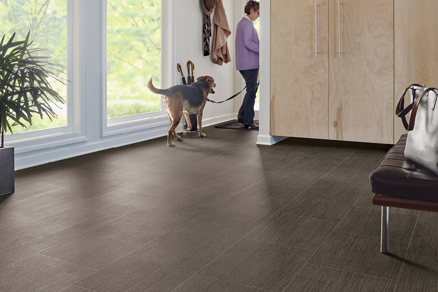 Vinyl Sheet Flooring brought to a foyer - B6337