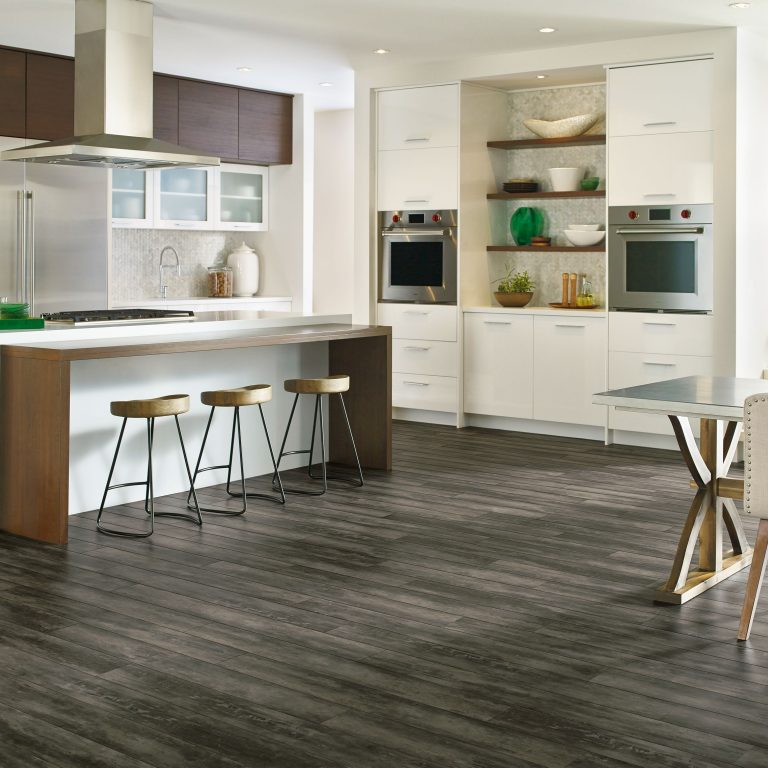 Grey Vinyl Plank Flooring Kitchen