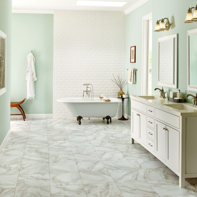 Bathroom flooring guide armstrong flooring residential for Shower room flooring ideas