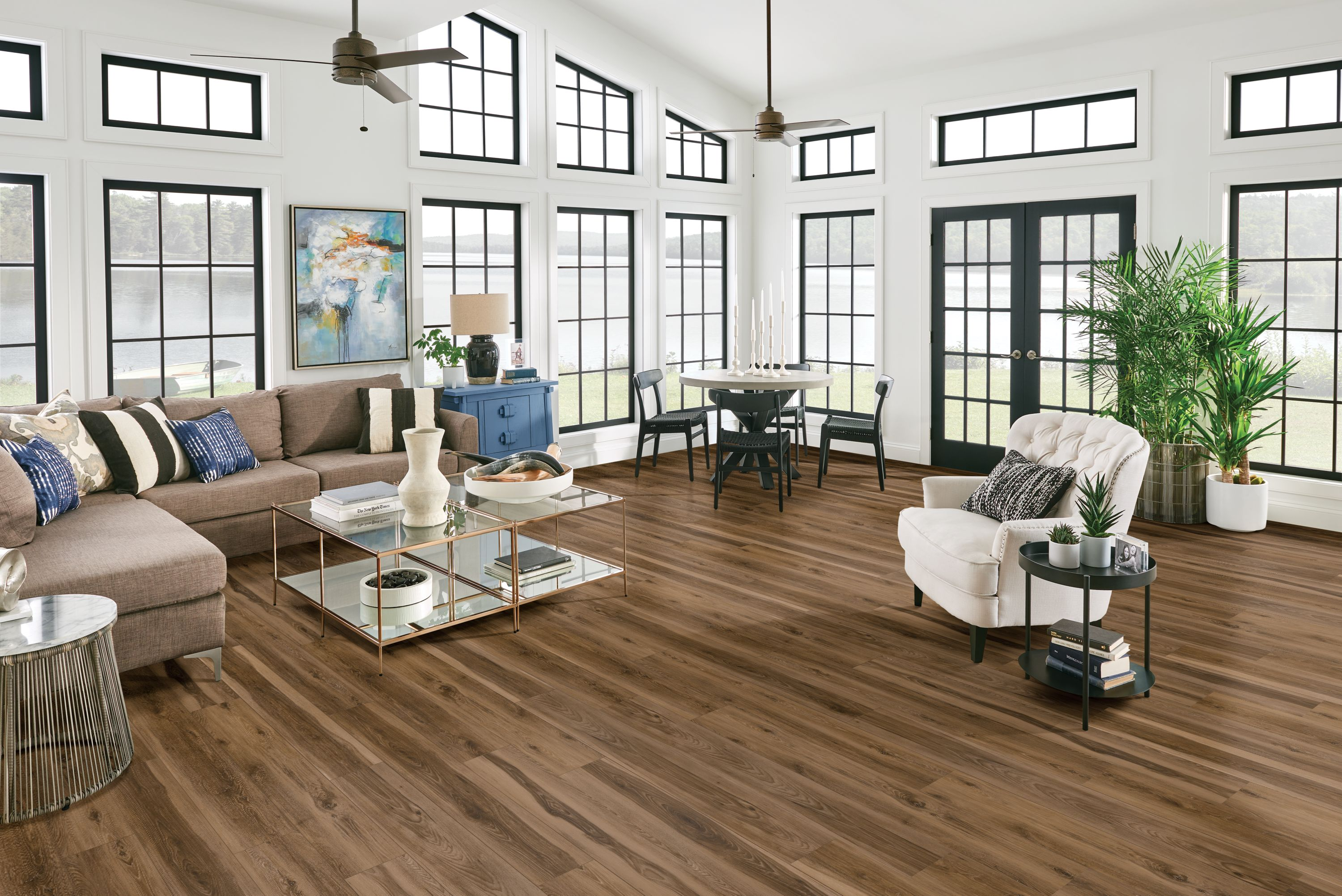 Living room flooring withrigid core - Empower